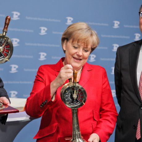 Nationale Maritime Konfernez; Angela Merkel; Pommerel; Wilhelmshaven;