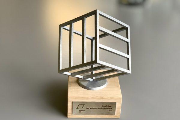 Preisobjekt BrandEx Silber Award