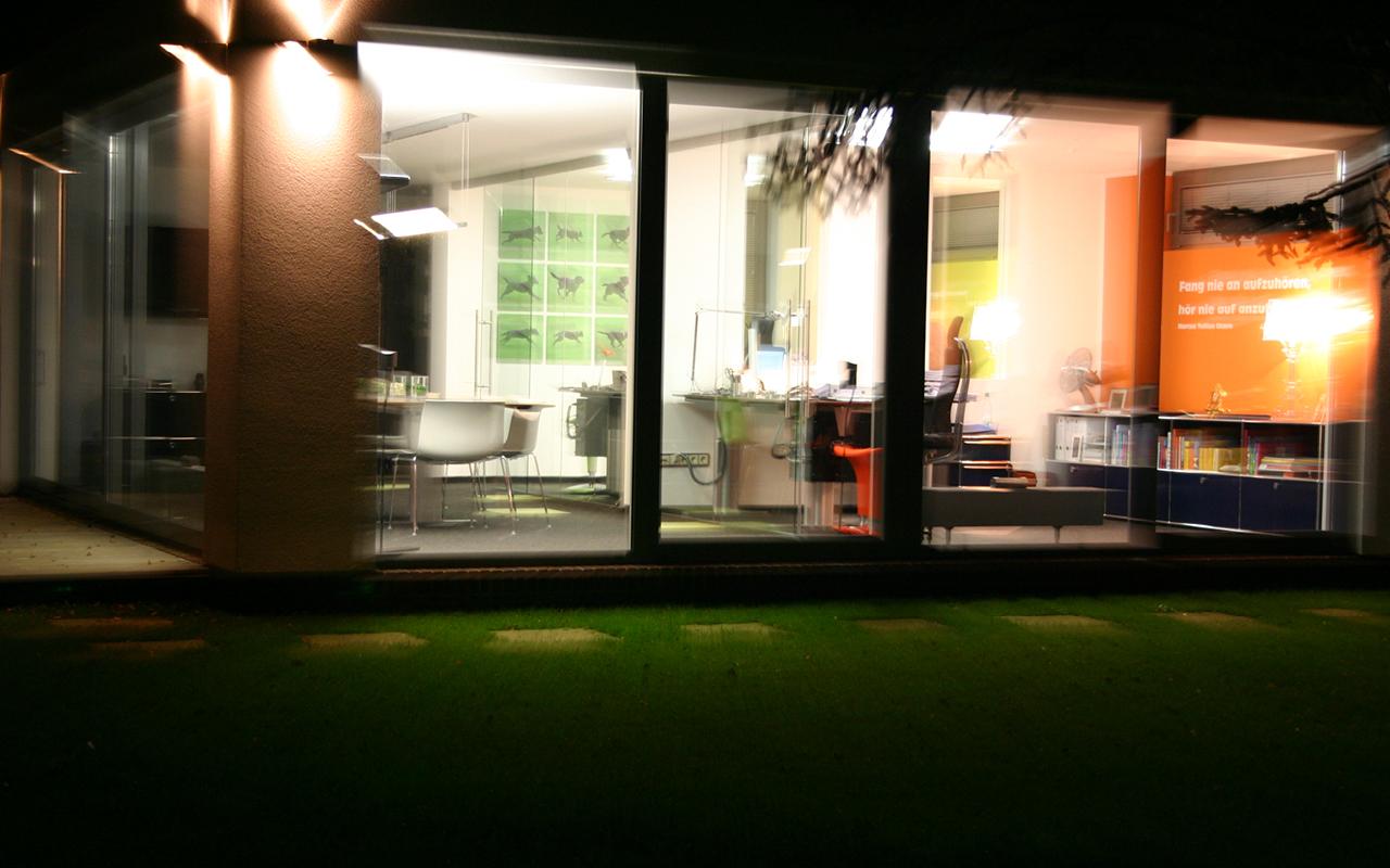 Innovation cube at night